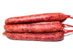 Saucisses de viande crue Photos libres de droits