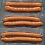 Saucisses emballées sous vide Images stock