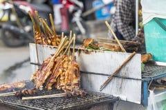 Saucisses et fruits de mer thaïlandais grillés Image stock