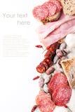 Saucisses et poivrons de piment Photographie stock libre de droits