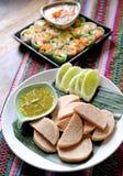 Saucisses et thaifood de viande photos libres de droits