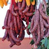 Saucisses et viandes traitées, produits ibériens de porc, Espagne Photo libre de droits