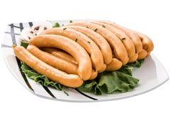 Saucisses fraîches Photos libres de droits