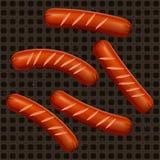 Saucisses frites Image libre de droits