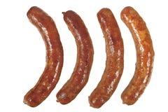 Saucisses frites Photographie stock libre de droits