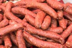 Saucisses fumées Images stock