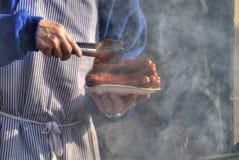 Saucisses grillées Photos libres de droits