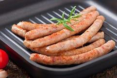Saucisses grillées Images libres de droits