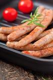 Saucisses grillées Photographie stock