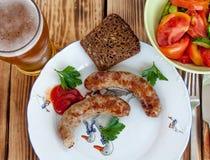 Saucisses grillées Images stock