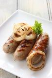 Saucisses grillées de porc et de sauge Photographie stock libre de droits