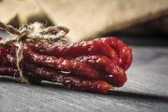 Saucisses sèches Image stock