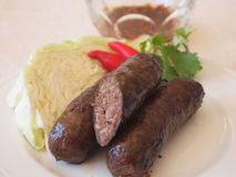 Saucisses thaïlandaises de boeuf Photos stock