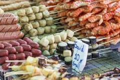 Saucisses thaïlandaises grillées Image stock