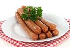 Saucisses viennoises Images stock