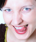 Saucy. Woman makes a funny face Royalty Free Stock Photos