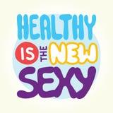 Saudável é o 'sexy' novo ilustração do vetor