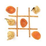 Saudável contra o alimento insalubre Fotografia de Stock Royalty Free