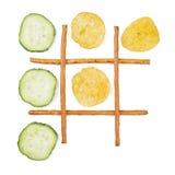 Saudável contra o alimento insalubre Imagem de Stock
