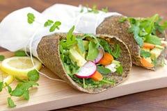 Saudável, a grão livra, envoltórios do vegetal Fotos de Stock