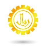 Saudí del oro del símbolo Fotografía de archivo
