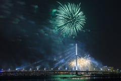 Saudação comemorativo em Riga Fotografia de Stock Royalty Free