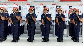 Saudação contingente da defesa civil durante NDP 2009 Imagens de Stock