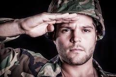 Saudação do militar foto de stock royalty free
