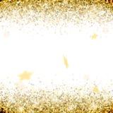 A saudação do ouro stars em um fundo branco Fotos de Stock