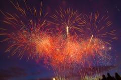 A saudação festiva em honra do dia da vitória pode sobre 9 Foto de Stock Royalty Free