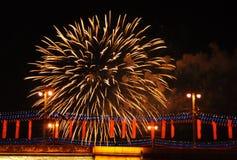 Saudação festiva em honra do 70th aniversário de Foto de Stock Royalty Free