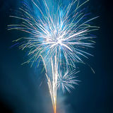 Saudação, fogos-de-artifício. foto de stock