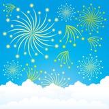 Saudação no céu azul ilustração royalty free