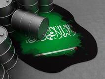 Saudi-Arabië en olie stock illustratie
