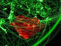 Saudi-Arabië op groene Aarde vector illustratie
