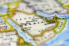 Saudi Arabia. View of Saudi Arabia on the map Royalty Free Stock Photography