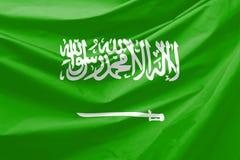 Saudi Arabia Flag. Wavy and realistic Saudi Arabia Flag Stock Image