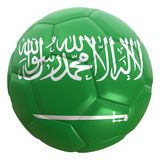 Saudi Arabia flag on a football ball Royalty Free Stock Photos