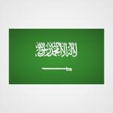Saudi Arabia flag on a gray background. Vector illustration Royalty Free Stock Photography
