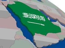 Saudi Arabia with flag Royalty Free Stock Photography