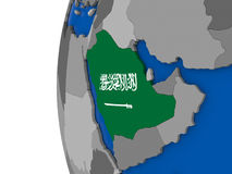 Saudi Arabia on globe Stock Images