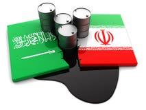 Saudi Arabia and Iran conflict Stock Photos