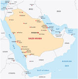 Saudi arabia map Stock Image