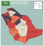Saudi Arabia map with selectable territories. Vector Royalty Free Stock Images