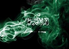Saudi Arabia national smoke flag Royalty Free Stock Photos