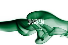 Saudi Arabia national smoke flag Stock Image