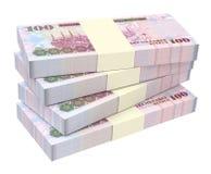 Saudi Arabia rials bills isolated on white background. Stock Photos