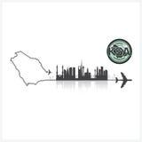 Saudi Arabia Skyline Buildings Silhouette Background Royalty Free Stock Photos