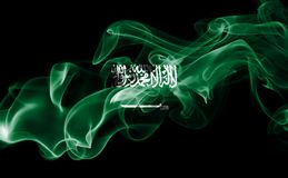 Saudi Arabia national smoke flag Stock Images