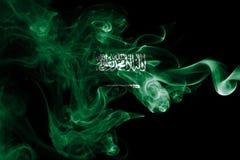Saudi Arabia national smoke flag Stock Photos